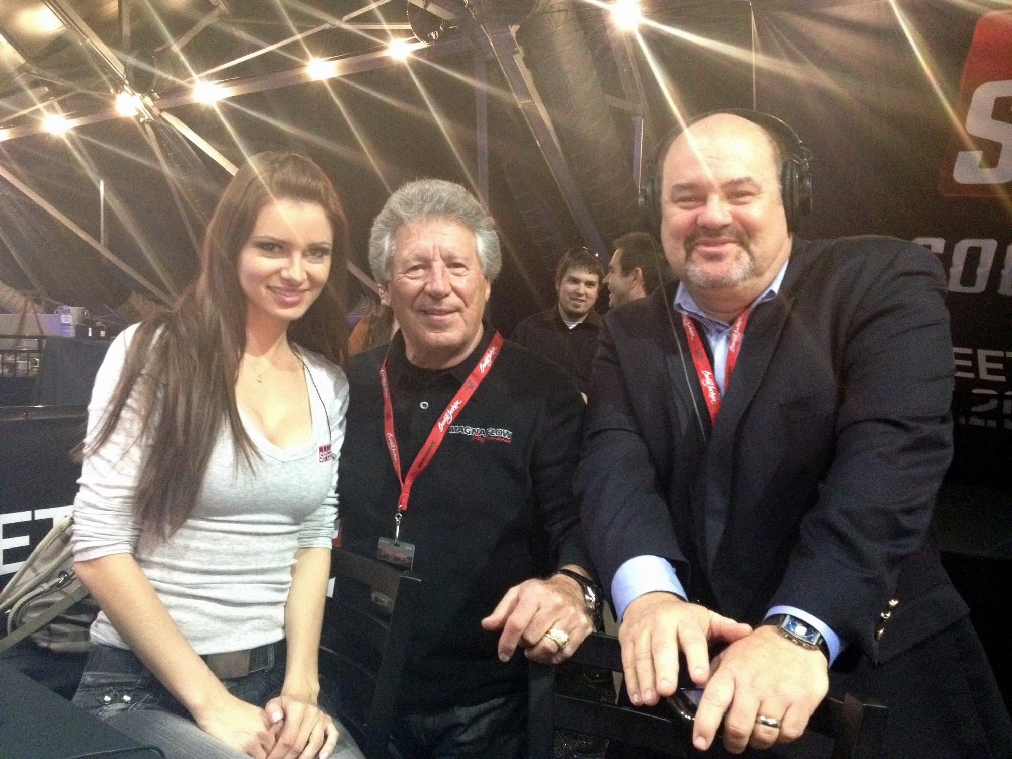 Hangin with cool peeps at Barrett-Jackson
