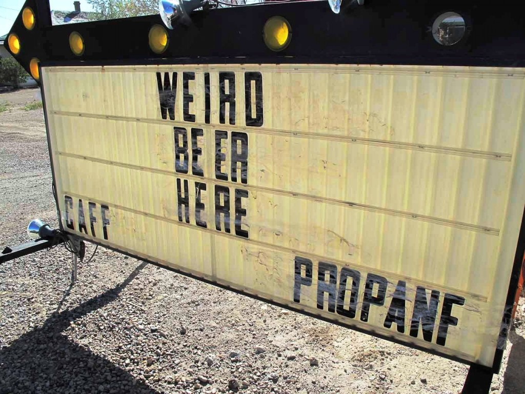 """I've never heard of PROPANF but I assume they just didn't have any more """"Es"""" left to spell the world PROPANE.  """"CAFF"""" was likely supposed to be CAFE.  I think"""