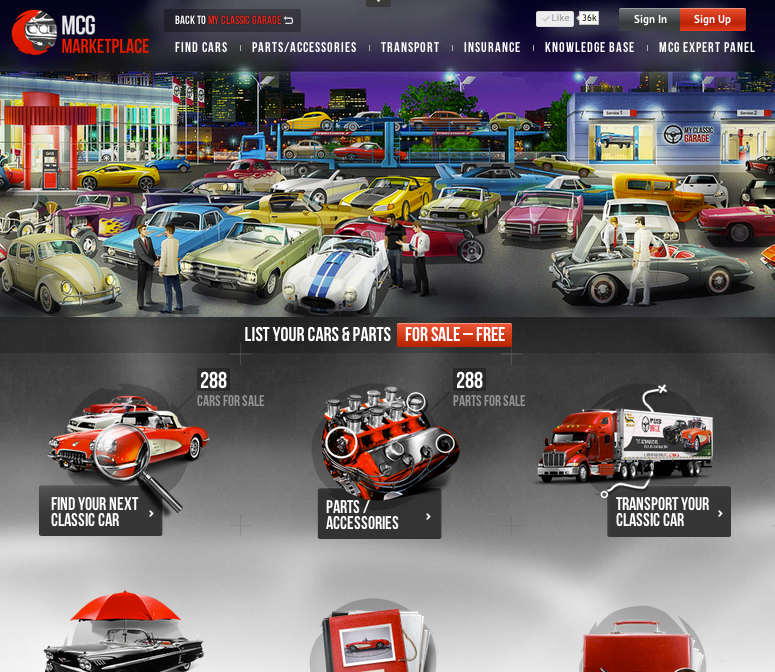 MYCLASSICGARAGE.COM LAUNCHES MARKETPLACE FOR CLASSIC CARS