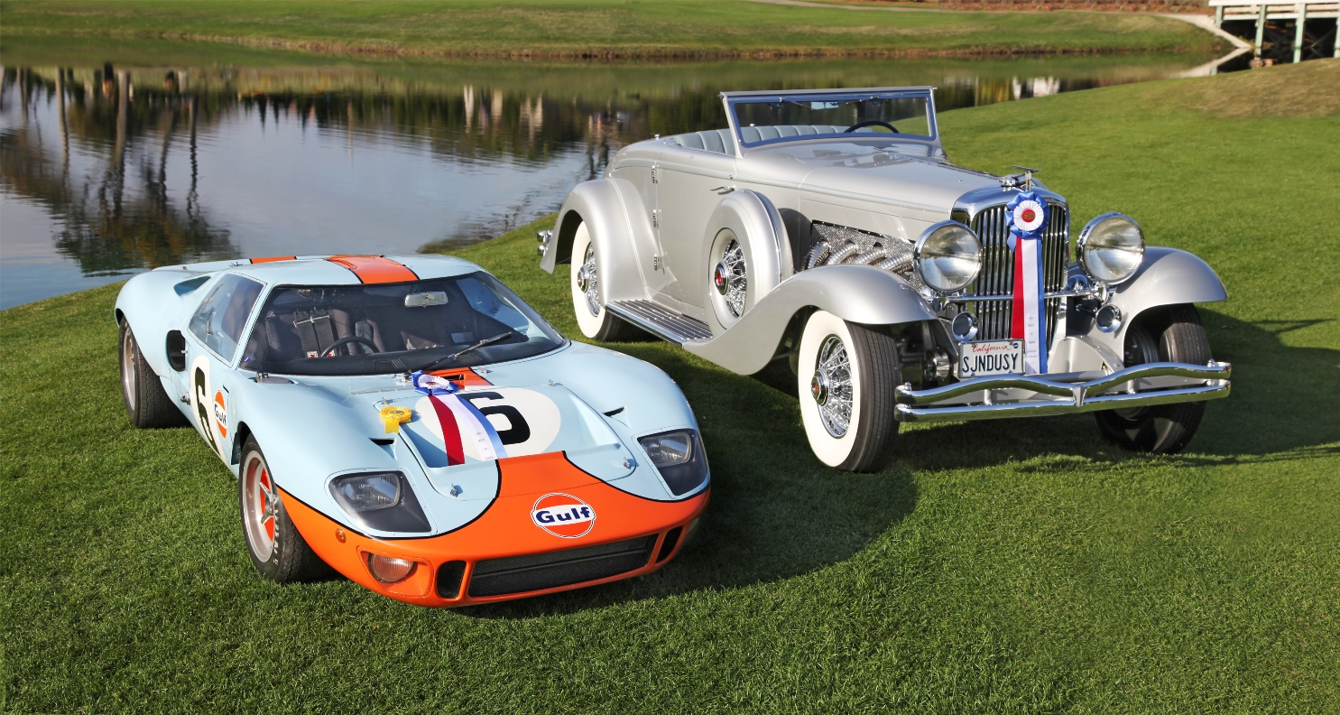 1936 DUESENBERG SJN AND 1968 FORD GT40 WIN BIG   AT THE 18th ANNUAL AMELIA ISLAND CONCOURS D'ELEGANCE
