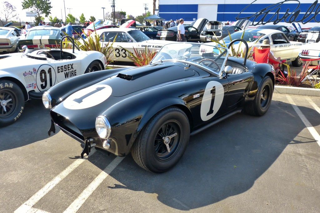 Cobra CSX2001, the first production Cobra, as owned and restored by my friend, mega enthusiast collector Bruce Meyer.  Meyer has amazing cars, and shares and shows them often.  Good on ya, Bruce.