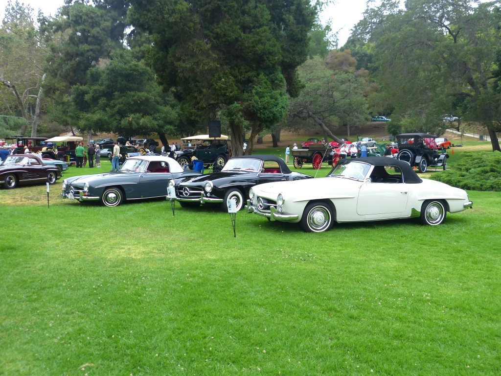 "One of the show's highlights included a superb and complete display of 50s and early 60s Mercedes-Benz 300 models, from  coupes and Gullwings to a rare ""Adenaur"" sedan"