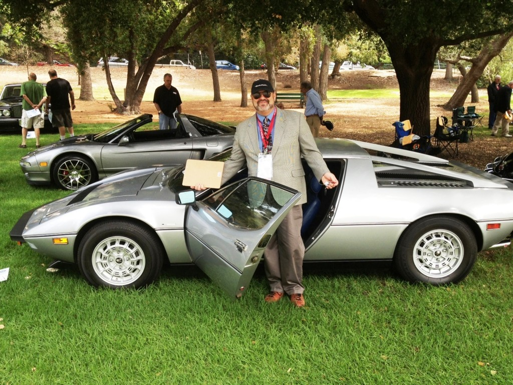 You will allow me, please, to show off my '78 Maserati Merak SS, which was in the show on a display only basis in the Supercar class.  I think people enjoyed seeing the car and it sure gave me a good parking spot. Stuart Reed photo.