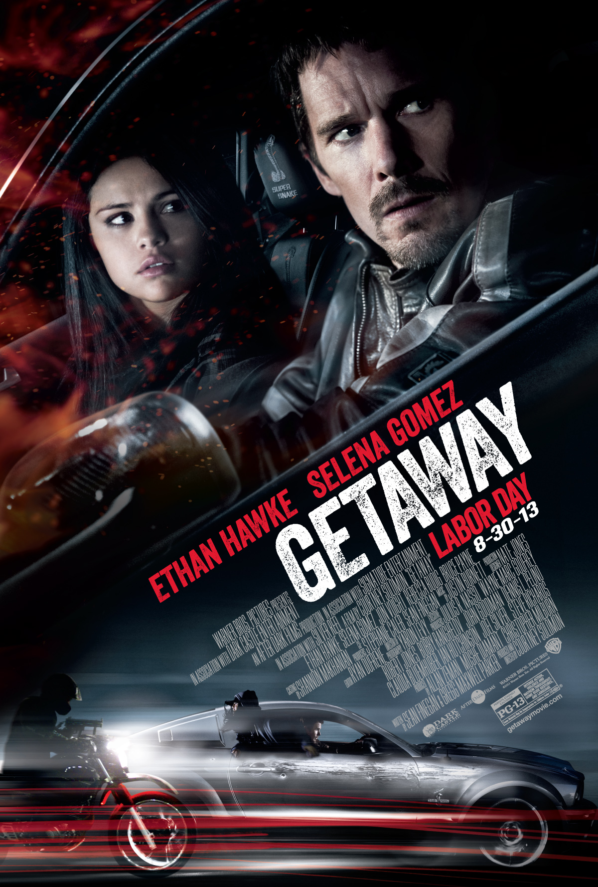 "FORD SHELBY GT500 SUPER SNAKE STARS WITH ETHAN HAWKE AND SELENA GOMEZ IN ACTION THRILLER ""GETAWAY"""