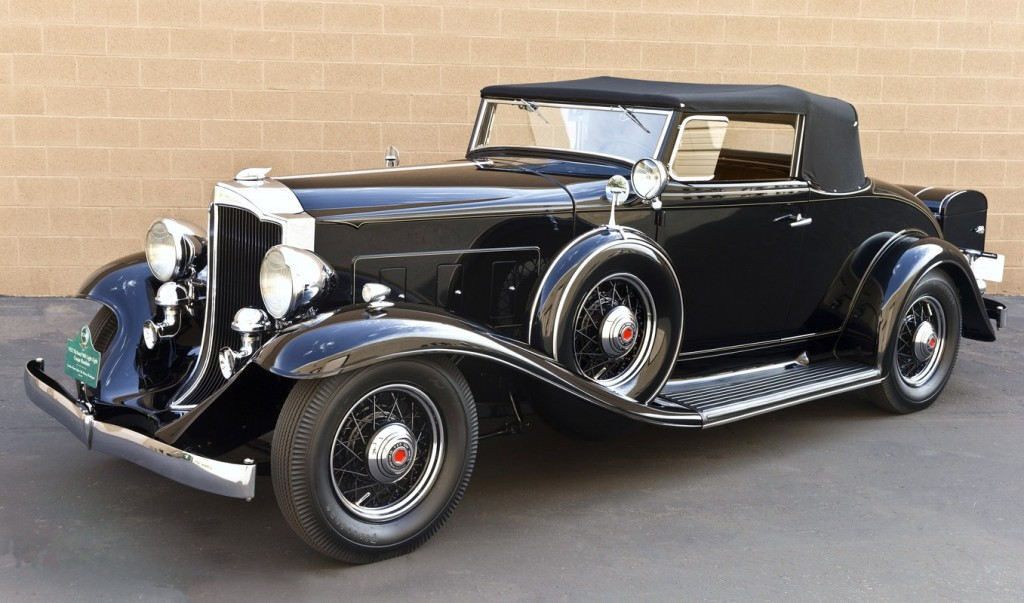 1932 Packard 900 Light Eight Coupe Roadster, owned by Gordon and Janet Apker of Des Moines, Washington. Photo credit:  Michael Tobian