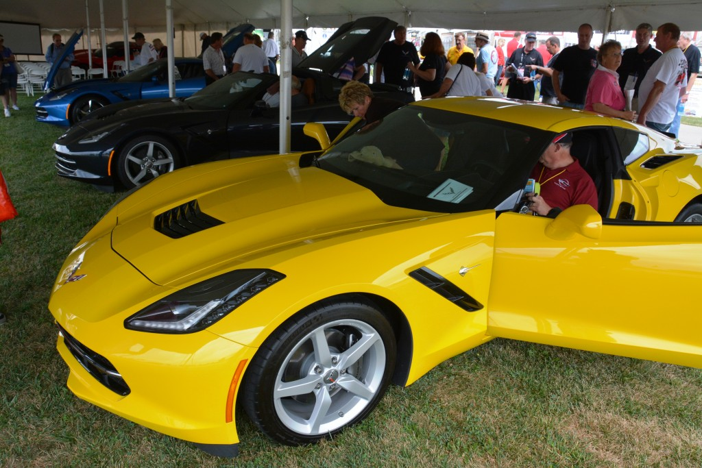 The cars everybody wanted to see and hear about -- the new C7 Corvette Sting Ray
