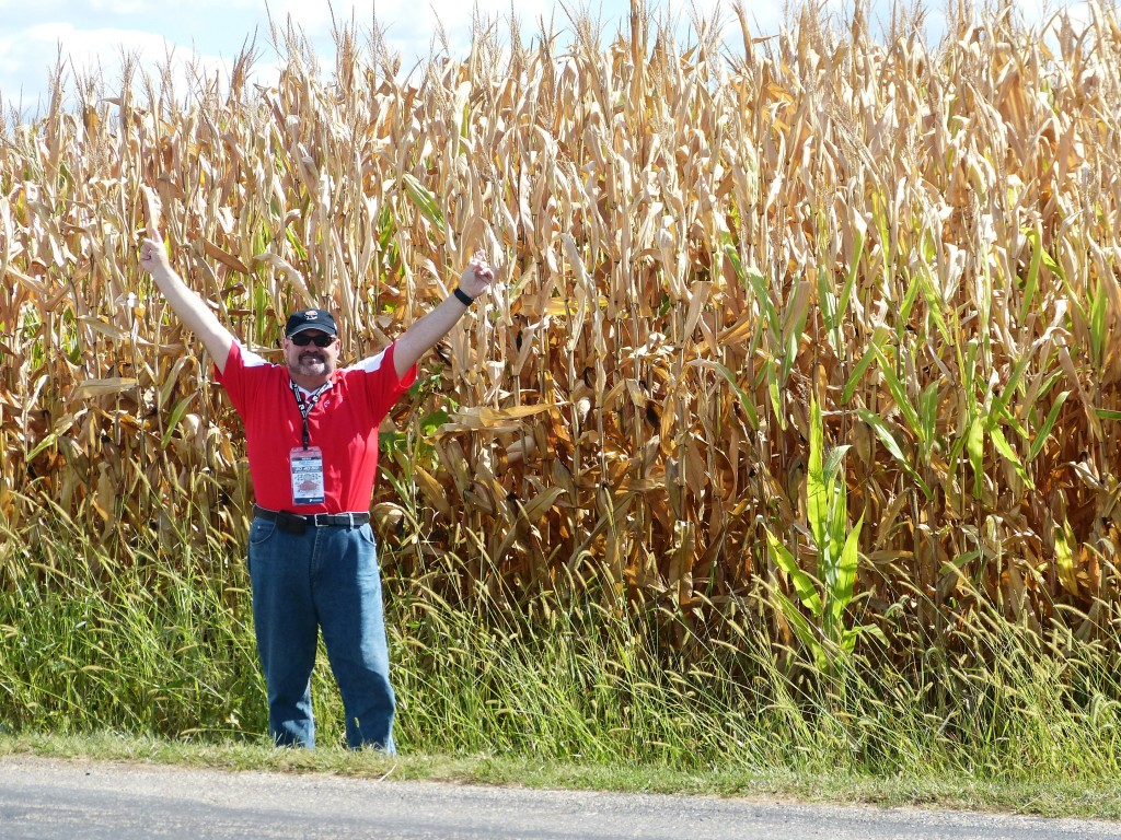 Here I am, outstanding in my field -- Effingham sits 'tween Indianapolis and St. Louis, and will never be short on cornfields