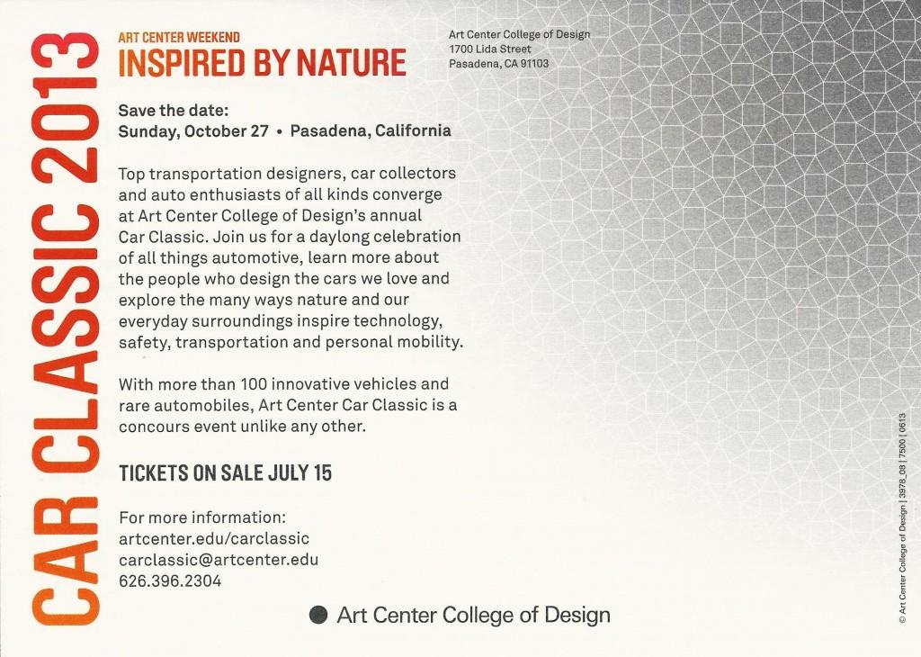 art center classic flyer back
