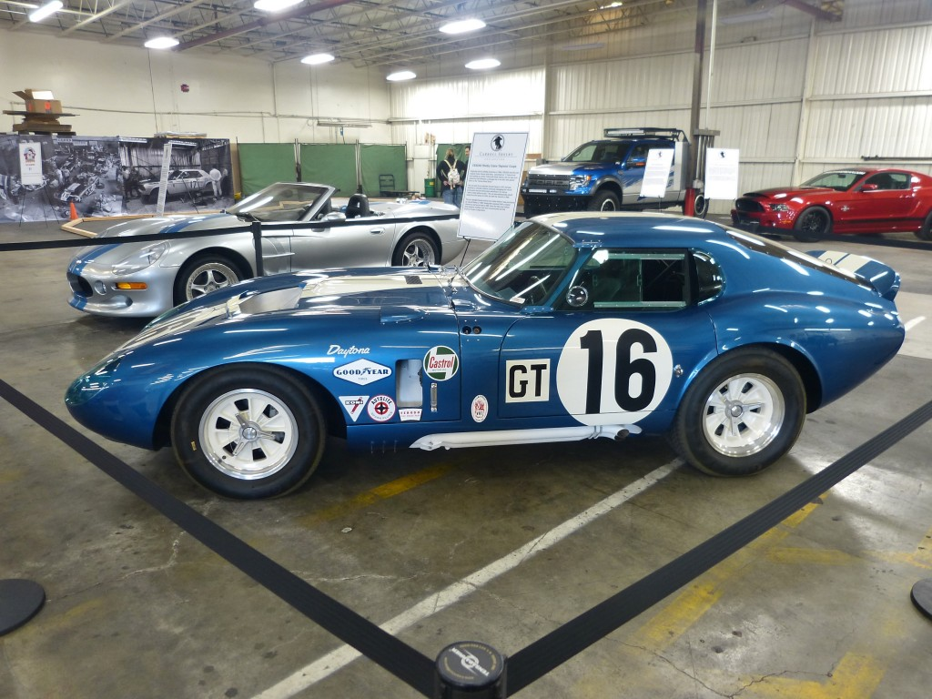 How's this for a classics per square inch ratio: a Cobra Daytona Coupe, and a Shelby Series I, with a Shelby Raptor truck and a current GT500 SuperSnake in the background