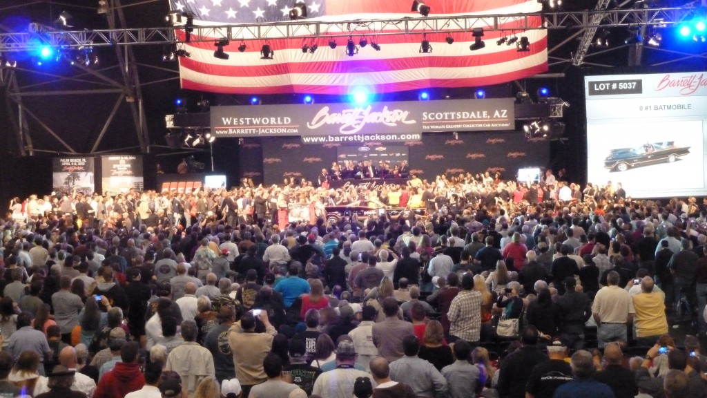 Talk about a room with a view; check us out live streaming on www.barrett-jackson.com