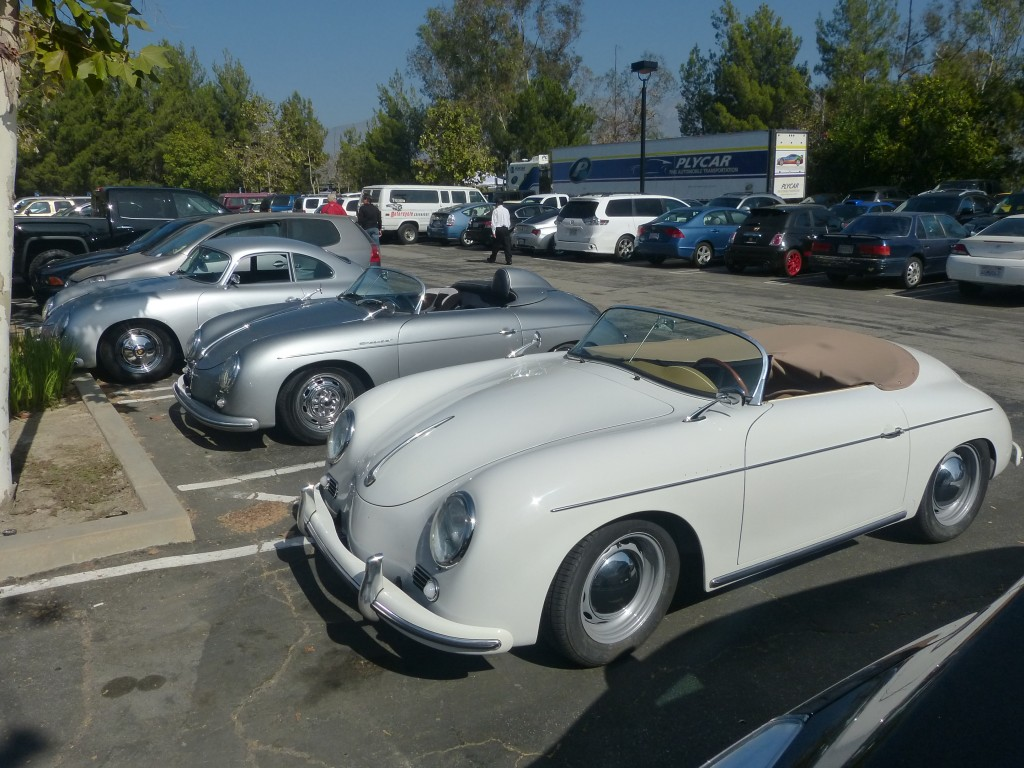 As so often happens at these events, the show out in the parking lot is as good as the one inside the official venue -- 356s anyone?