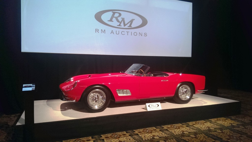 RM Auctions rung the bell hardest with this fabulous Ferrari 250 Spyder California Long-Wheelbase.  It was about as perfect as they get.