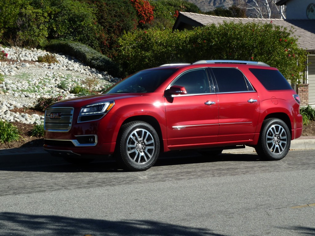 GMC Acadia redesign, and top level Denali trim styling look great