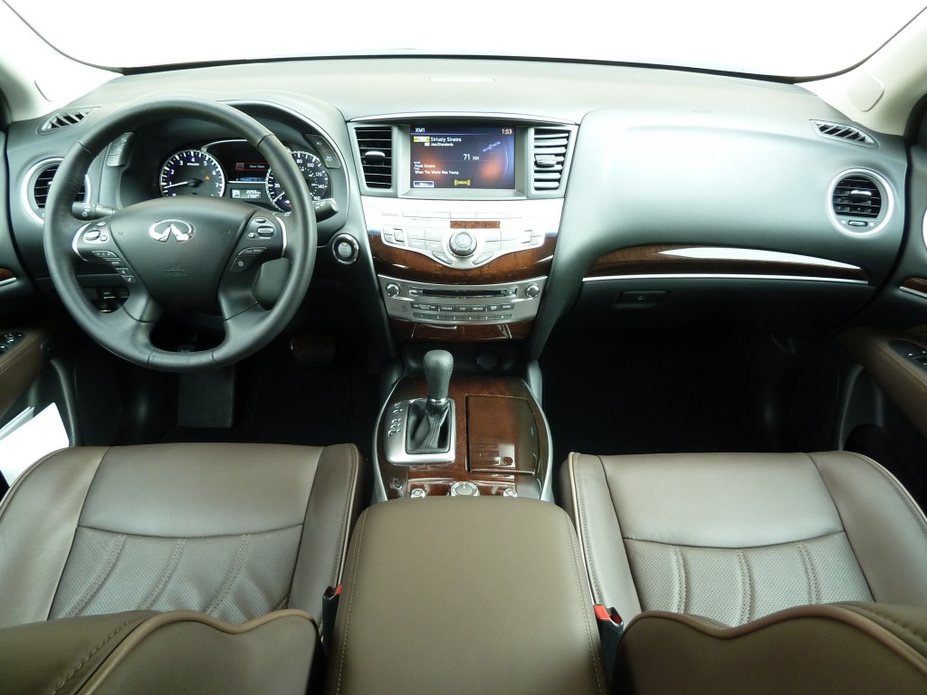 Infiniti's cabin design is a bit more minimalist than GMC's but works beautifully