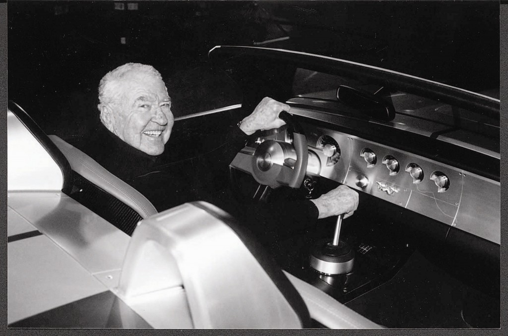 The Great Carroll his own self, with the Ford Cobra concept car of a few years back