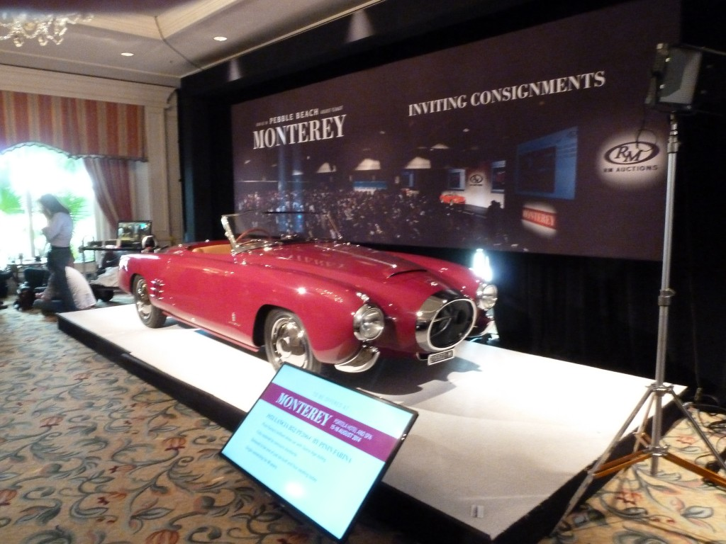 RM Auctions always hosts Amelia's on site official collector car auction, and it is an event not to be missed if you are there.  This year, RM set the record for the highest priced car ever sold at auction...more than $6,000,000