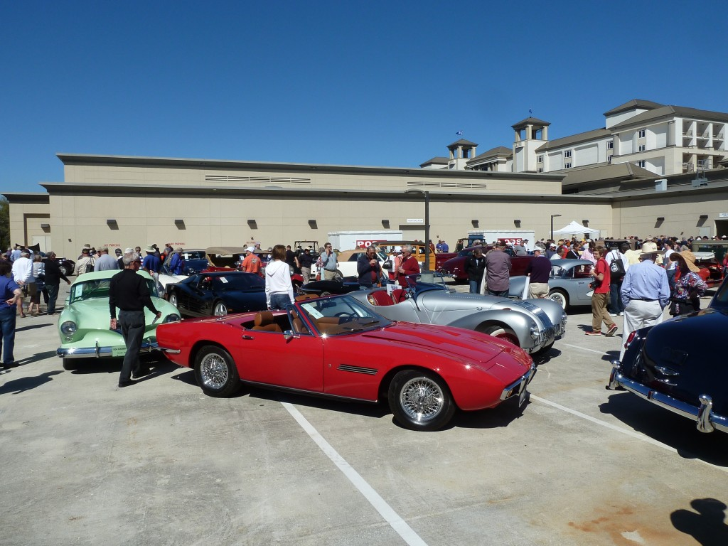 If you're not inside the ballroom, the best place from which to enjoy the RM auction is the rooftop, as the cars roll in and out of the auction block