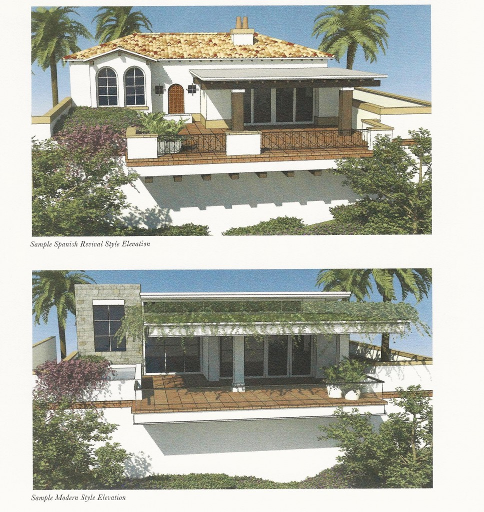 Just a couple of the Garage Villa elevations from which you may choose