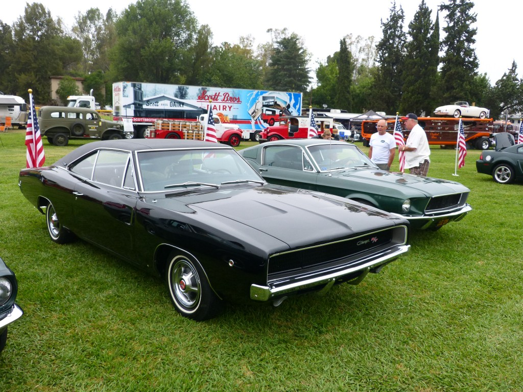 What would a car show dedicated to the films of Steve McQueen be without Highland Green Metallic Mustangs and black Dodge Chargers - nada!