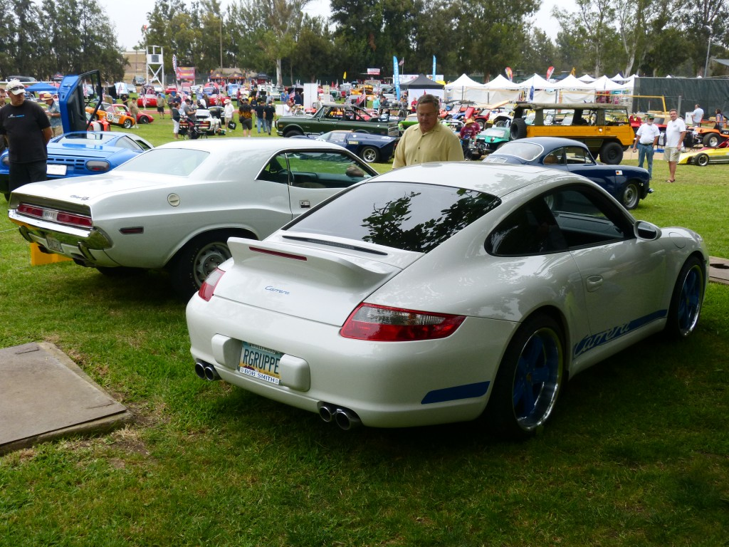OK now this is cool, and very retrofuturistic; a modern 911 winged and painted to honor the seminal '73 Carrera RS 2.7.