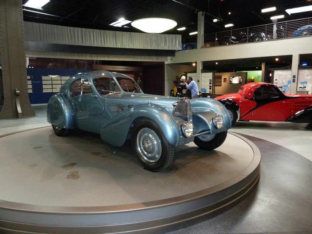 Talk about a big, bad, Bug; one of the uber rare Bugatti Atlantics; and Ralph Lauren's similar example is black, just in case you were wondering.