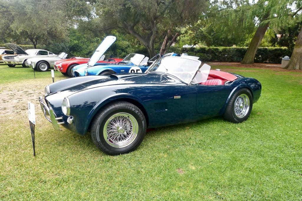 My friend Jerry Rosenstock painted his small-block Shelby Cobra this fabulous navy blue because he liked it...and so do I