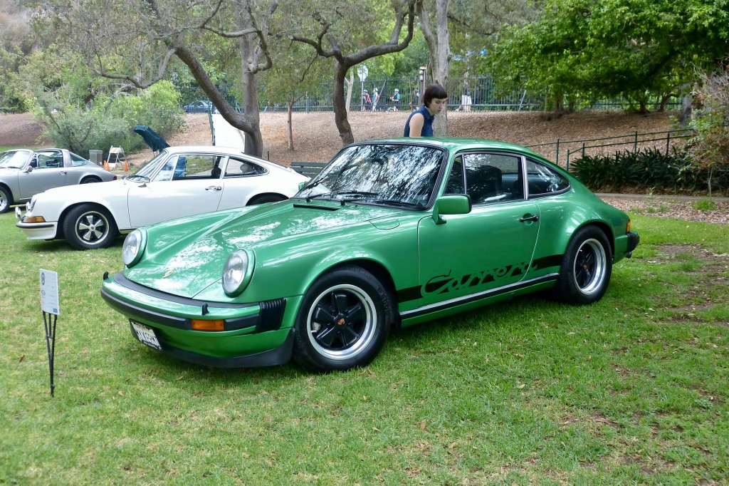 Super rare Euro spec 911 -- appropriately nicknamed Kermit, was a crowd favorite among the Porsches