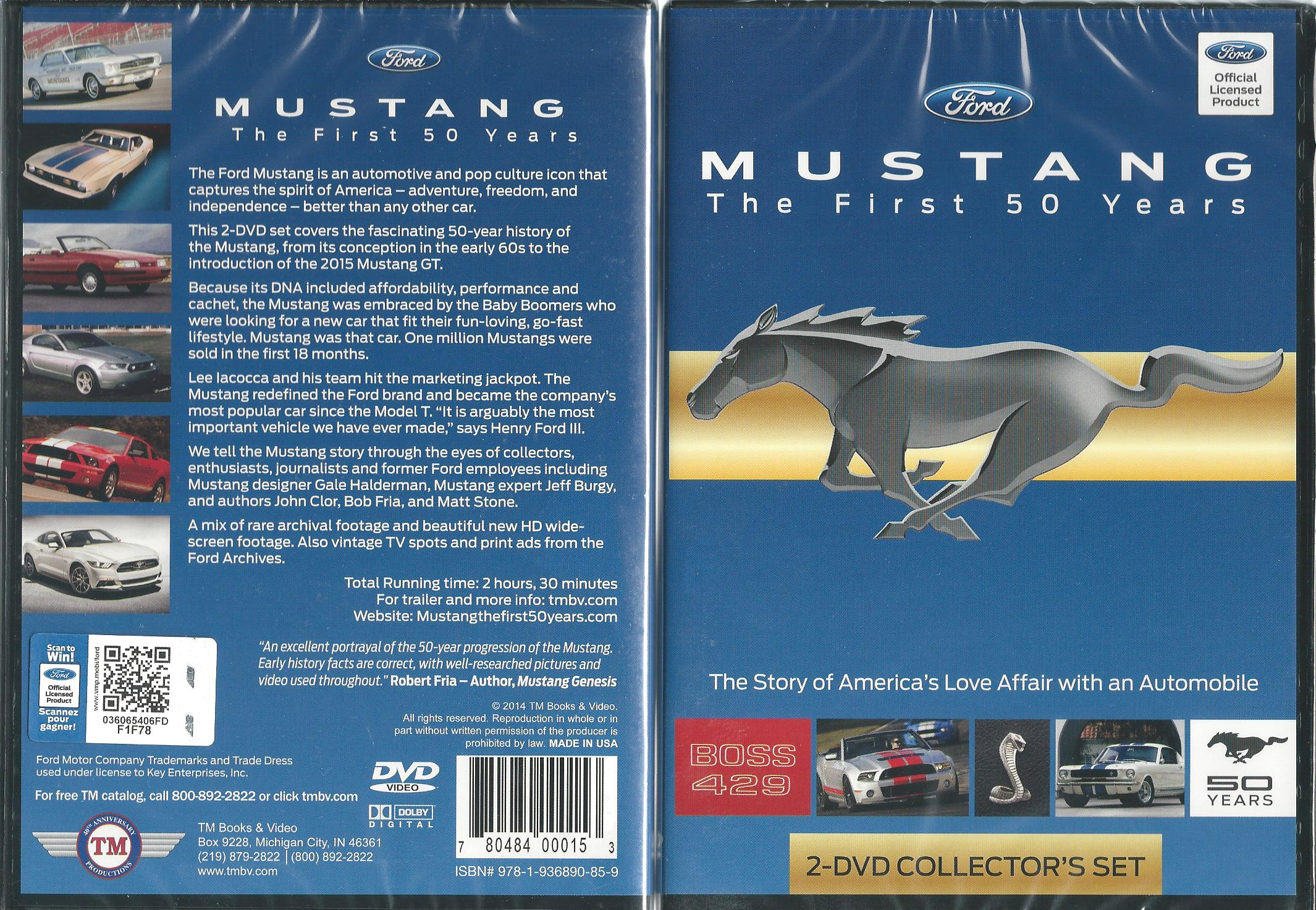 MUSTANG The First 50 Years; Two-DVD set now available