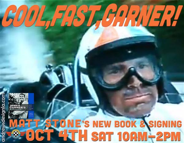 James Garner's Motoring Life Book Signing Saturday October 4