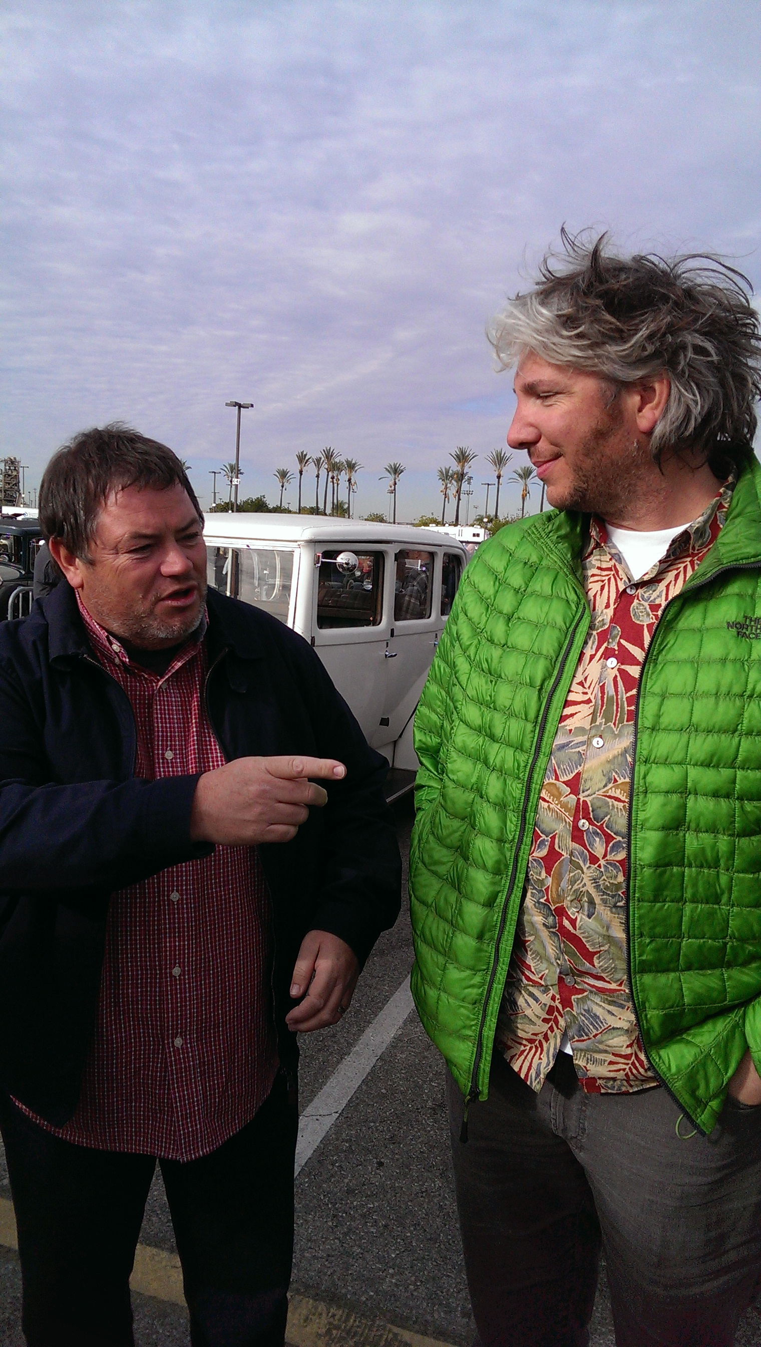 Mike Brewer and Edd China; hanging with the Wheeler Dealer guys