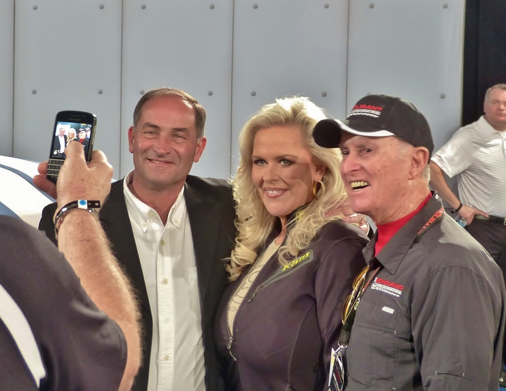 Lots of special Ford people on hand, including Patricia and Bob Bondurant here with Patterson