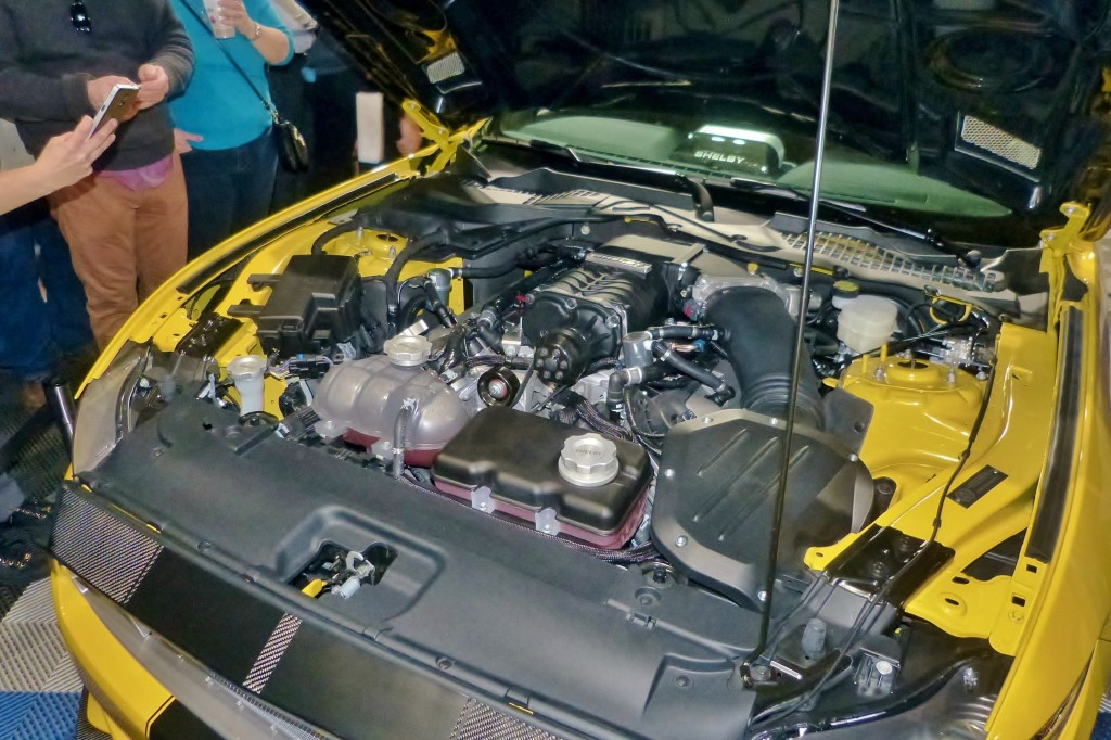 Who doesn't like Big Power?  Shelby supercharges the 5.0-liter Coyote V-8 up to 627 horse