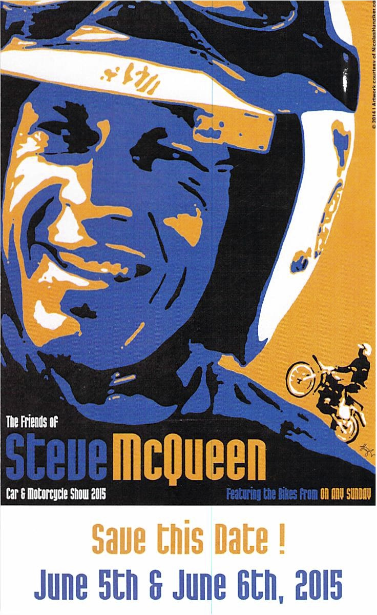 Calendar Alert: Friends of Steve McQueen Car and Motorcycle show weekend coming in June