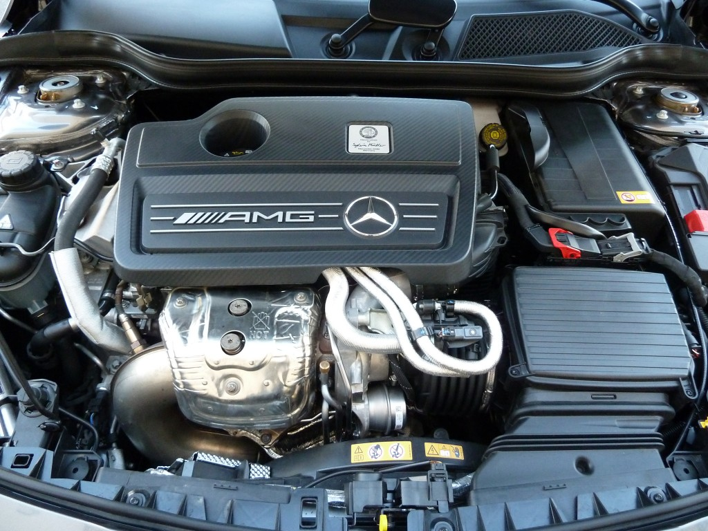 Super high tech, handbuilt two-liter I-4 turbo boils out 355 horse smoothly, yet still delivers reasonable fuel mileage for how fast it is.