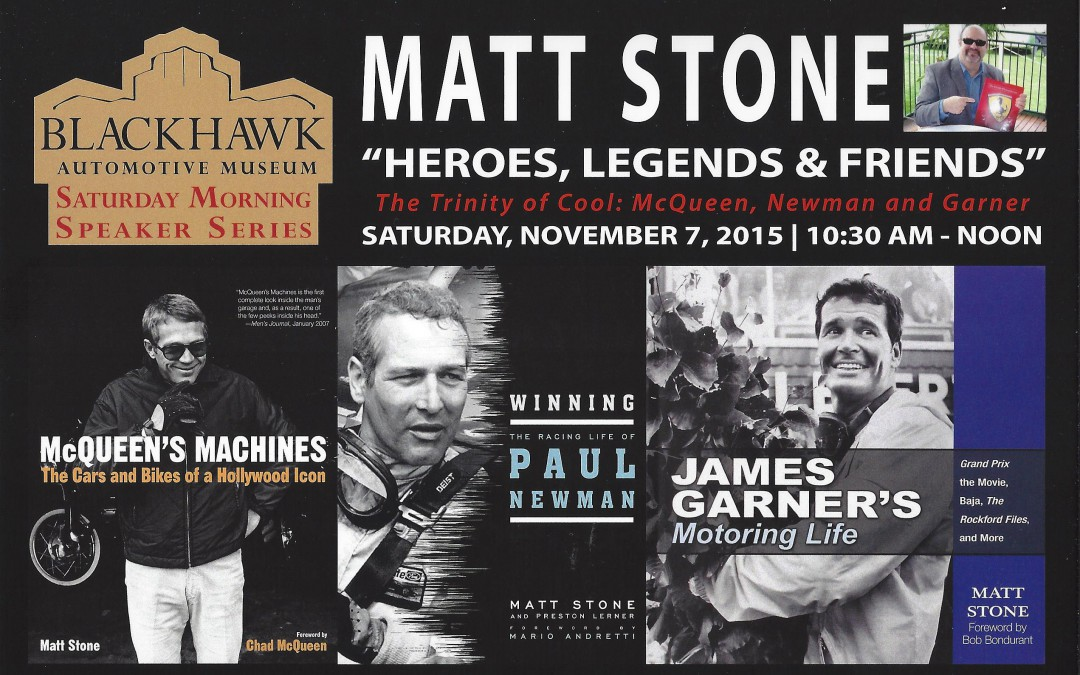 Blackhawk Museum Book Signing: Saturday, November 7, 2015