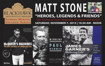 Blackhawk Museum Book Signing: Saturday, November 7, 2015