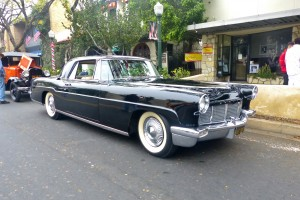 Likely my favorite American car of the 1950s, the handbuilt, expensive, high quality, and elegantly proportioned Continental MkII of 1956-57. This one handsome and very original.