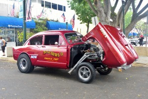 Cool flip front gasser was born a 1952 Henry J, now something much more.