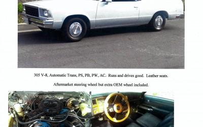 FOR SALE: 1979 Chevrolet El Camino V-8