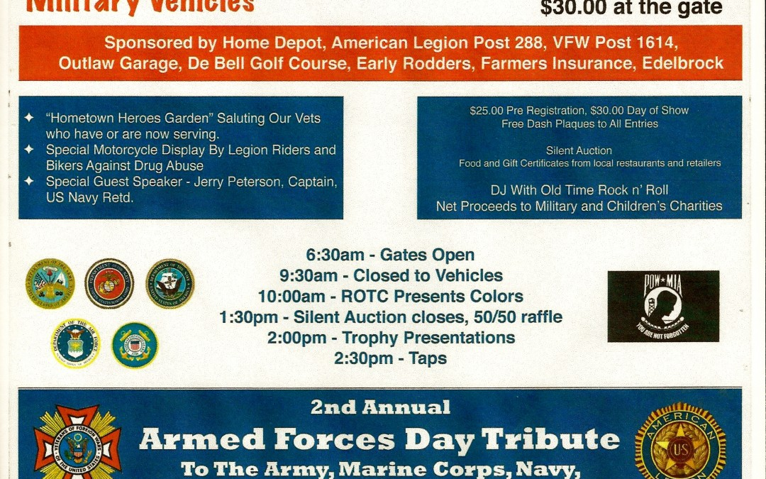 Calendar Alert! Armed Forces Day Car Show in Glendale, May 21, 2016
