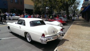 Another look as the rolling concours takes over Fernandina Beach on Friday.  The Continental Mk II still gets my vote as the most elegant American car of the 50s.