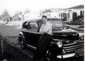 Milt with 46 Ford - Cropped