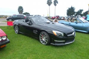 Not old, so let's call it a modern classic.  I certainly never get tired of looking at a triple black SL63 AMG.