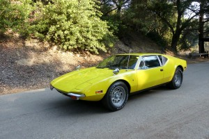 """""""Elivis is in the Park!""""  or at least his car is.  The Petersen Museum owns The King's DeTomaso Pantera...this is the car he shot with his pistol one time when it wouldn't start.  Bang -- take that, car!"""