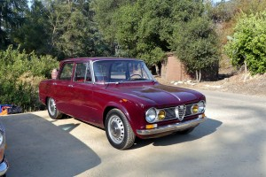 So who was this jerk to score such a plum on pavement parking spot?  Its OK when this just restored gem of an Alfa Giulia belongs to the boss, event protagonist Evan Klein.