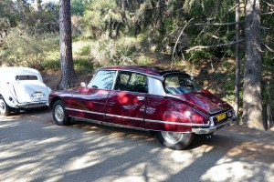 Call me strange, but I love Citroens.  And this pair made the show for me, Chuck and Tina's charming white Traction Avant and this regal looking maroon DS Pallas.  Vive la France!