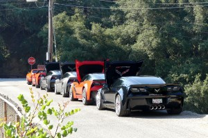 The Corvette gang shows up big for Highway Earth, with always at least a couple dozen on hand.
