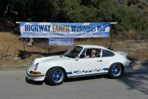 Perhaps the nicest, and certainly the most valuable car at Highway Earth this year was mega enthusiast Bruce Meyer's uber fab 1973 Porsche Carrera RS2.7.  Many consider this to be the truest expression of the original 911 ethos.