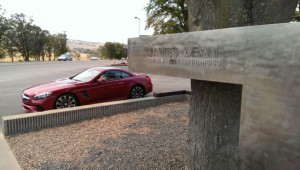 """Yeah, yeah; I know that the late great James Dean drove a Porsche on his fateful last across Highway 46, but this monument to him in Chalome California still says """"road trip"""" to me."""
