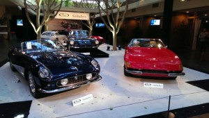 As tasty a Ferrari display as one could imagine...a 250 LWB Spyder California at left, a SuperAmerica Aerodynamico in the middle, and the seminal Daytona on the right.  This trio left me a little breathless.